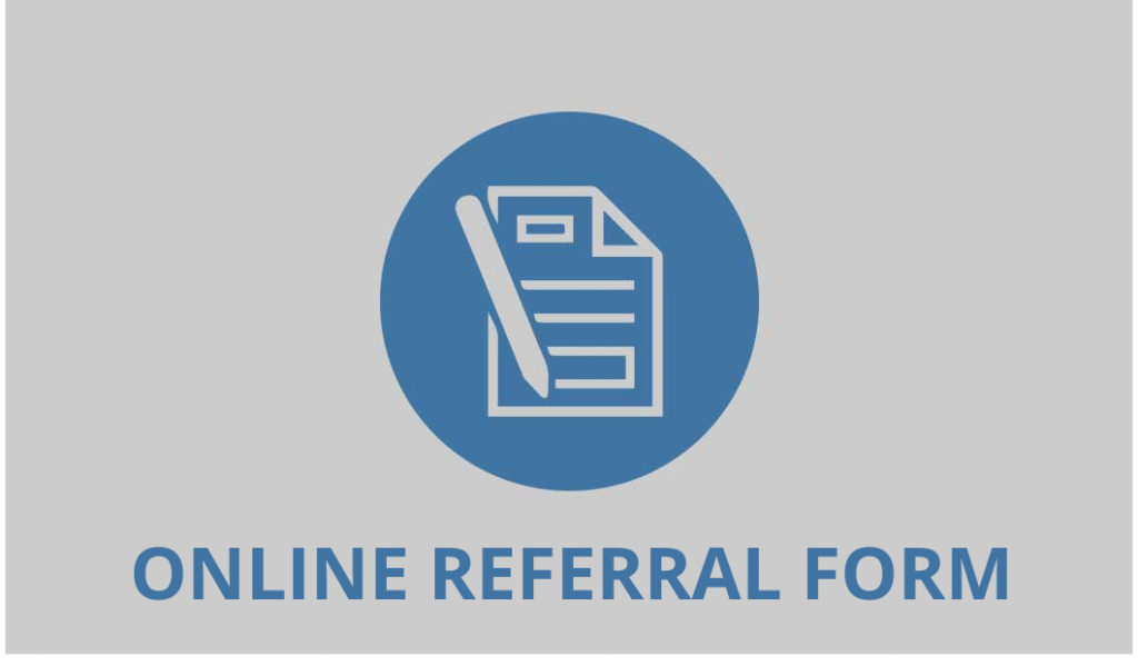 Online referral form button